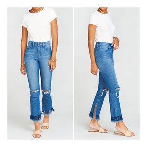 Show Me Your Mumu Brooklyn Frayed Hem Jeans